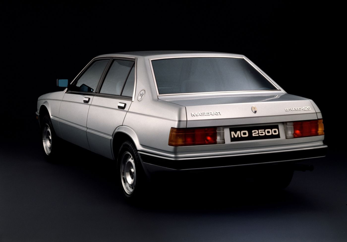 1983 Maserati 425 - rear view of the classic model in white