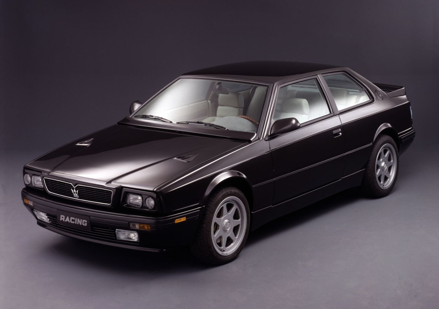 1990 Maserati Racing - exterior view of the classic car in black