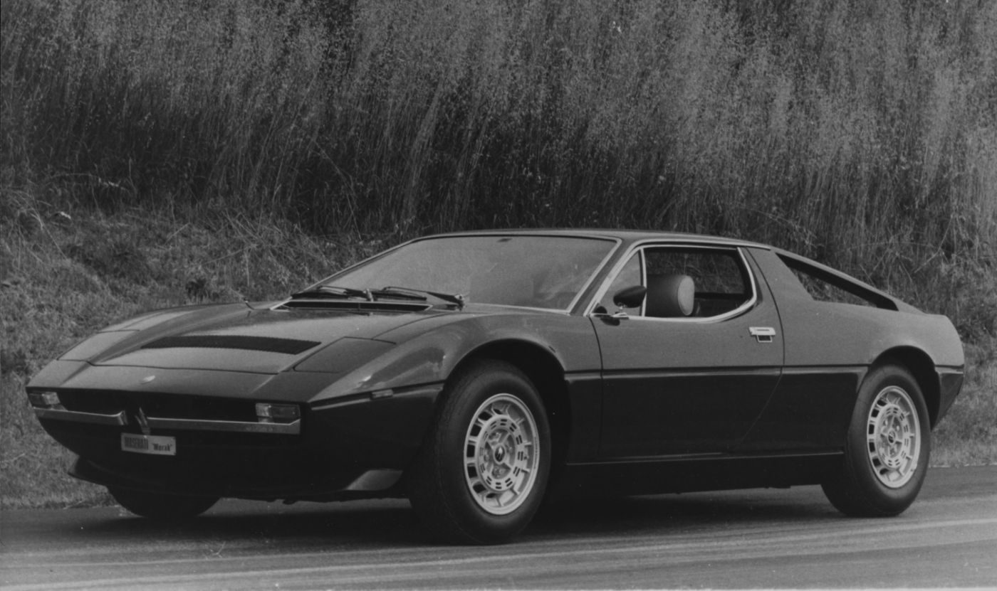 1972 Maserati Merak - exterior view of the classic mid-engine coupe