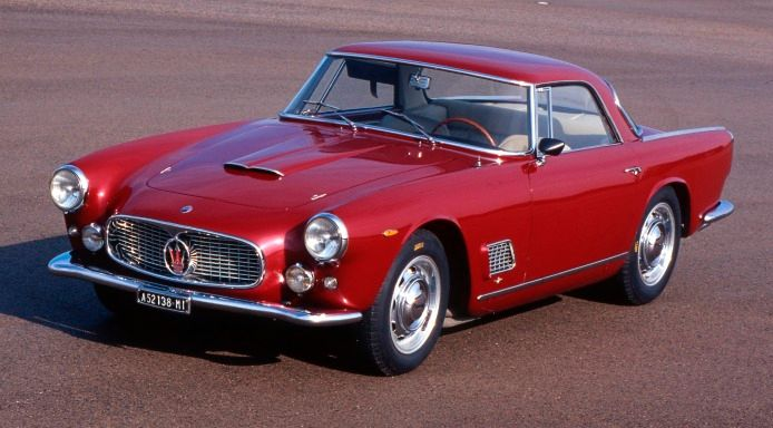 Maserati Red 3500 GT - Maserati Classic Car -Front side view - Test drive