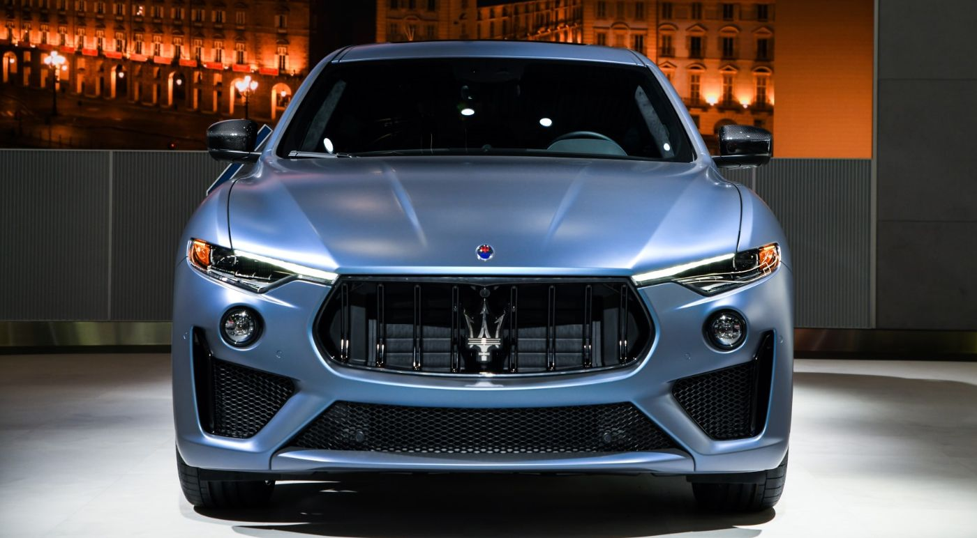 Maserati Levante GTS One of One - front view - color 'Blu Astro'