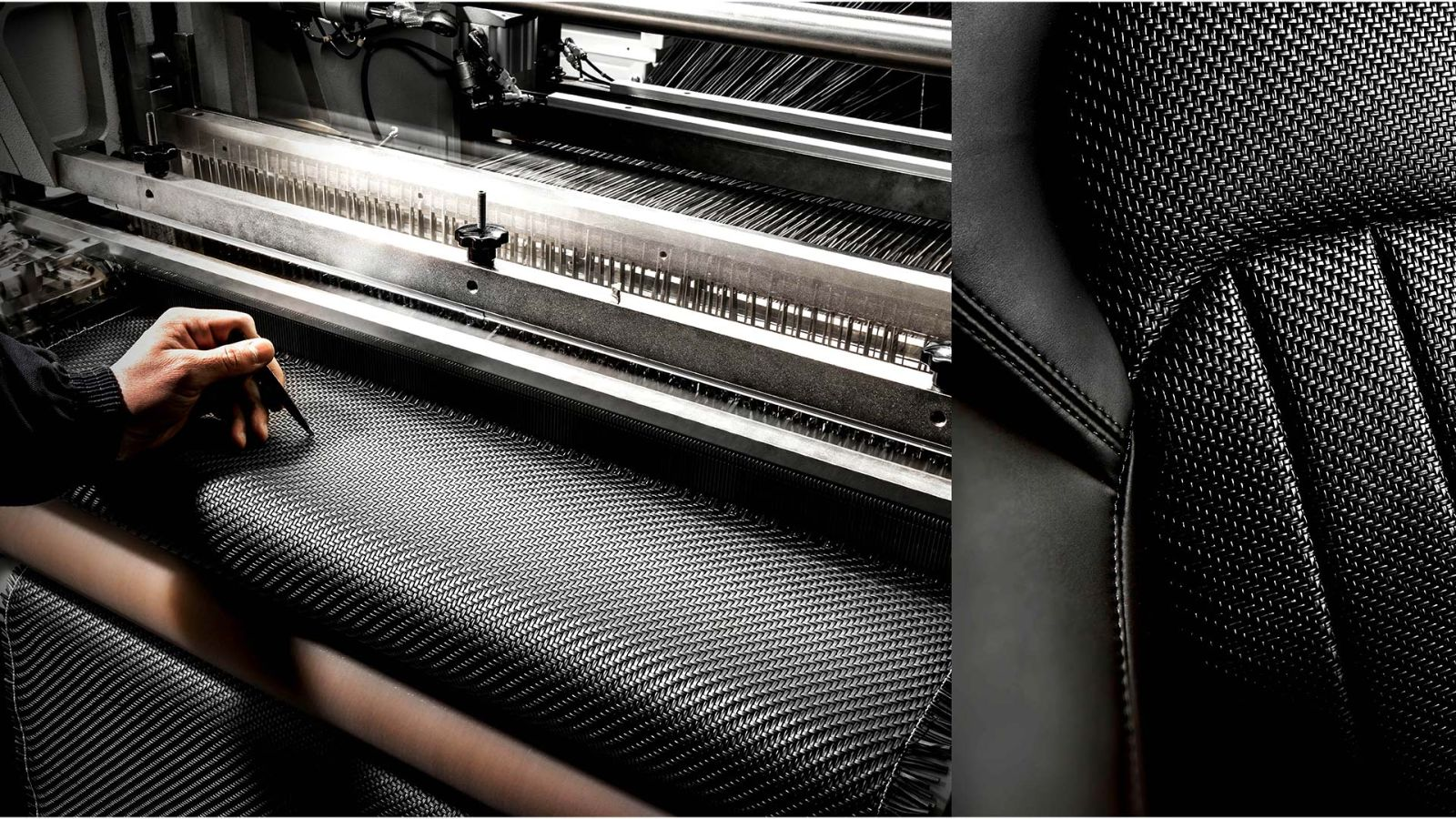 Maserati Zegna Pelletessuta interiors - Working at the weaving loom