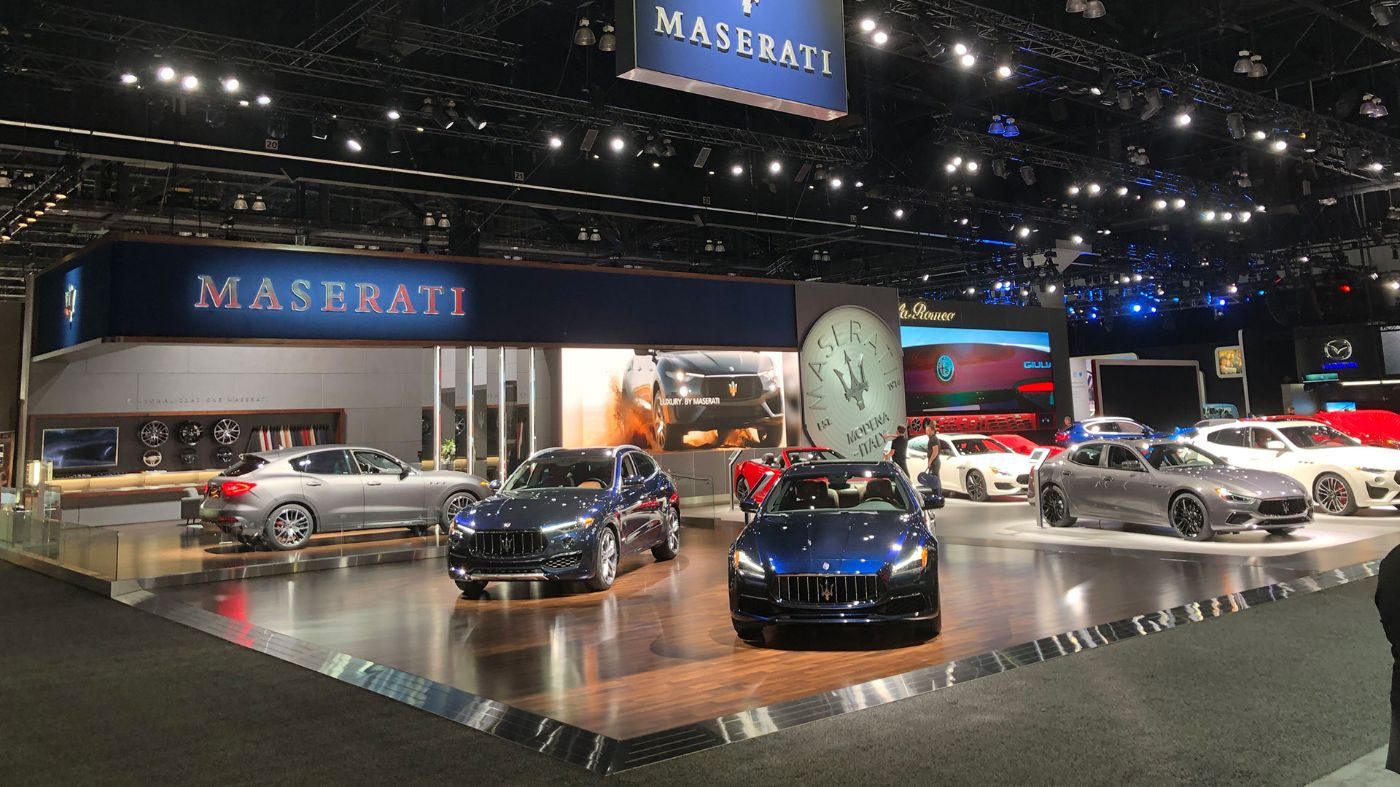 All Maserati models displayed at Los Angeles Auto Show 2019